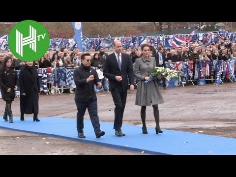 The Duke and Duchess of Cambridge pay tribute to Leicester City owner Vichai Srivaddhanaprabha