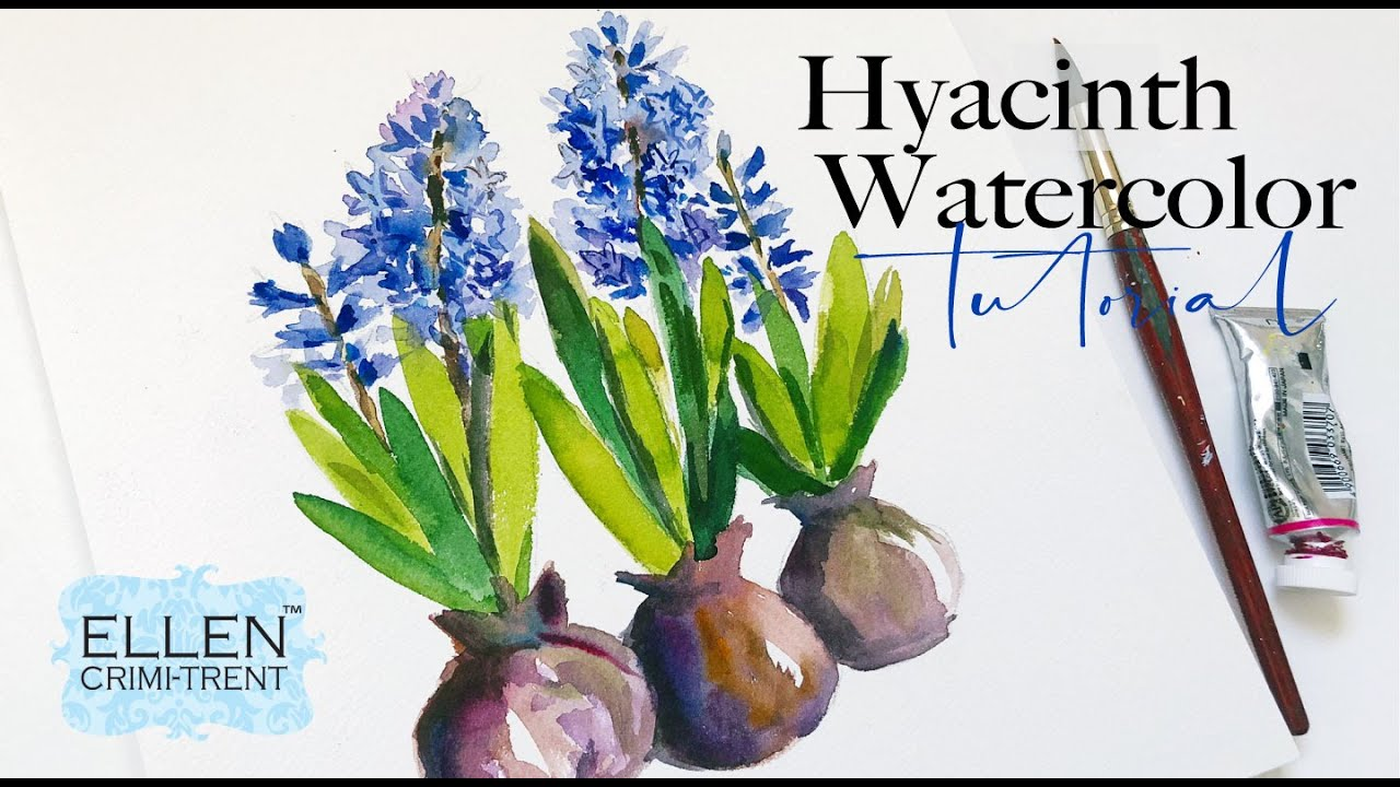 Watercolor Hyacinth Tutorial