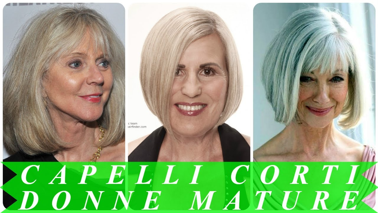 Taglio capelli corti donne mature - YouTube