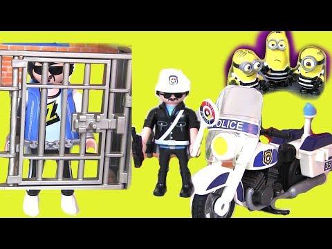 Видео для детей Playmobil Миньоны #Губка Боб! Игры для детей #Зверополис Мультики про Машинки