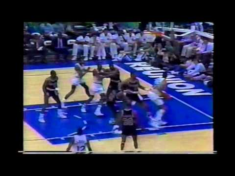 1990 Playoffs Portland@Dallas Game 3 HIGHLIGHTS