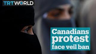 Canadians protest face veil ban