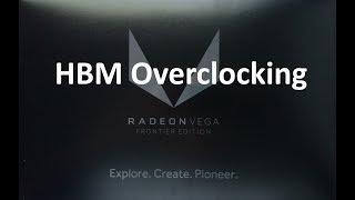 amd vega fe hbm2 overclock scaling gaming