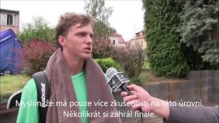 Brian Černoch po prohře v první kole na turnaji Futures v Pardubicích