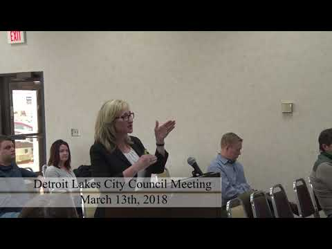 City of Detroit Lakes March 2018 Council Meeting