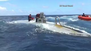 Cocaine smuggling sub seized by Coast Guard