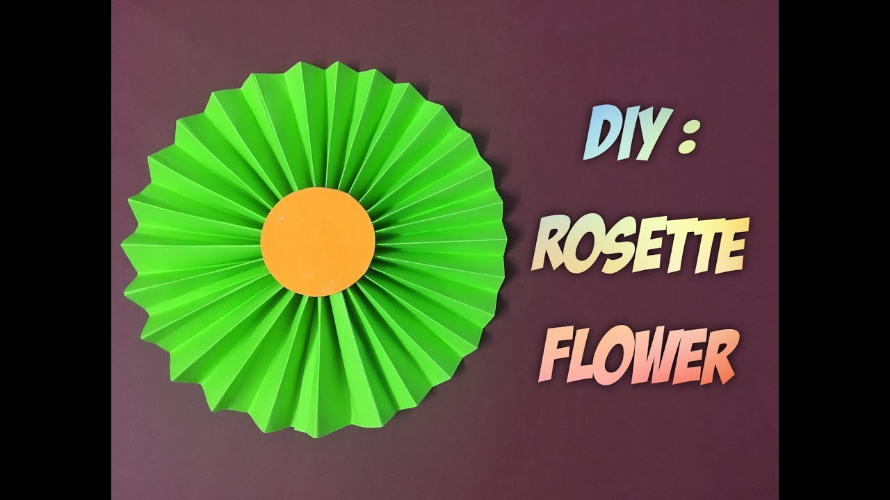 How to make paper rosette flower tutorial youtube how to make paper rosette flower tutorial mightylinksfo Choice Image