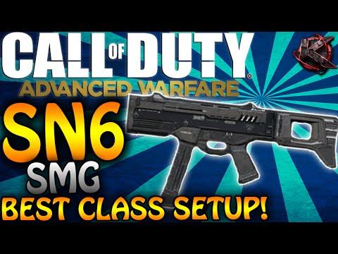"""COD: Advanced Warfare - """"SN6"""" BEST CLASS SETUP! (COD: AW Multiplayer Class Setups)"""