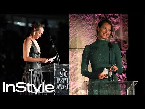 Amber Valletta Honors Advocate of the Year Christy Turlington Burns | InStyle Awards 2019 | InStyle