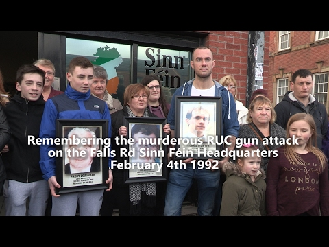 Murderous RUC gun attack on Sinn Féin headquarters remembered
