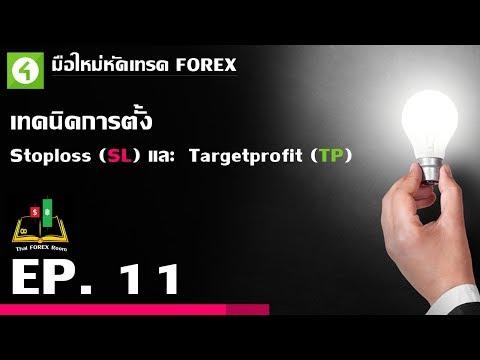 Forex ตอนที่ 11 : เทคนิคการตั้ง Stoploss (SL) และ  Targetprofit (TP)