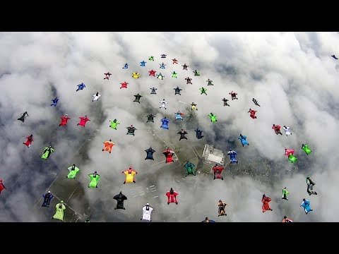 World Wingsuit Formation Record attempts 2018 - 75 to 85 way