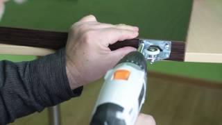 видео Самостоятельное изготовление и установки двери-гармошки