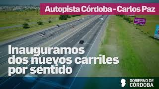 Nuevos carriles en la autopista Córdoba- Carlos Paz
