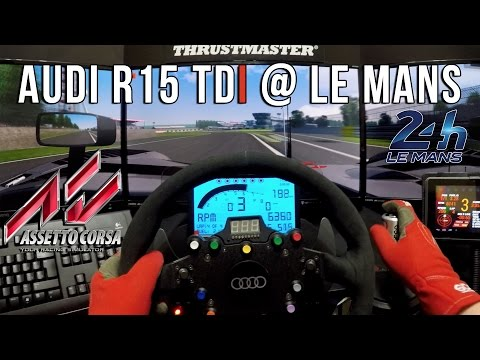 Assetto Corsa - Audi R15 Tdi @ Le Mans (GoPro - Onboard)