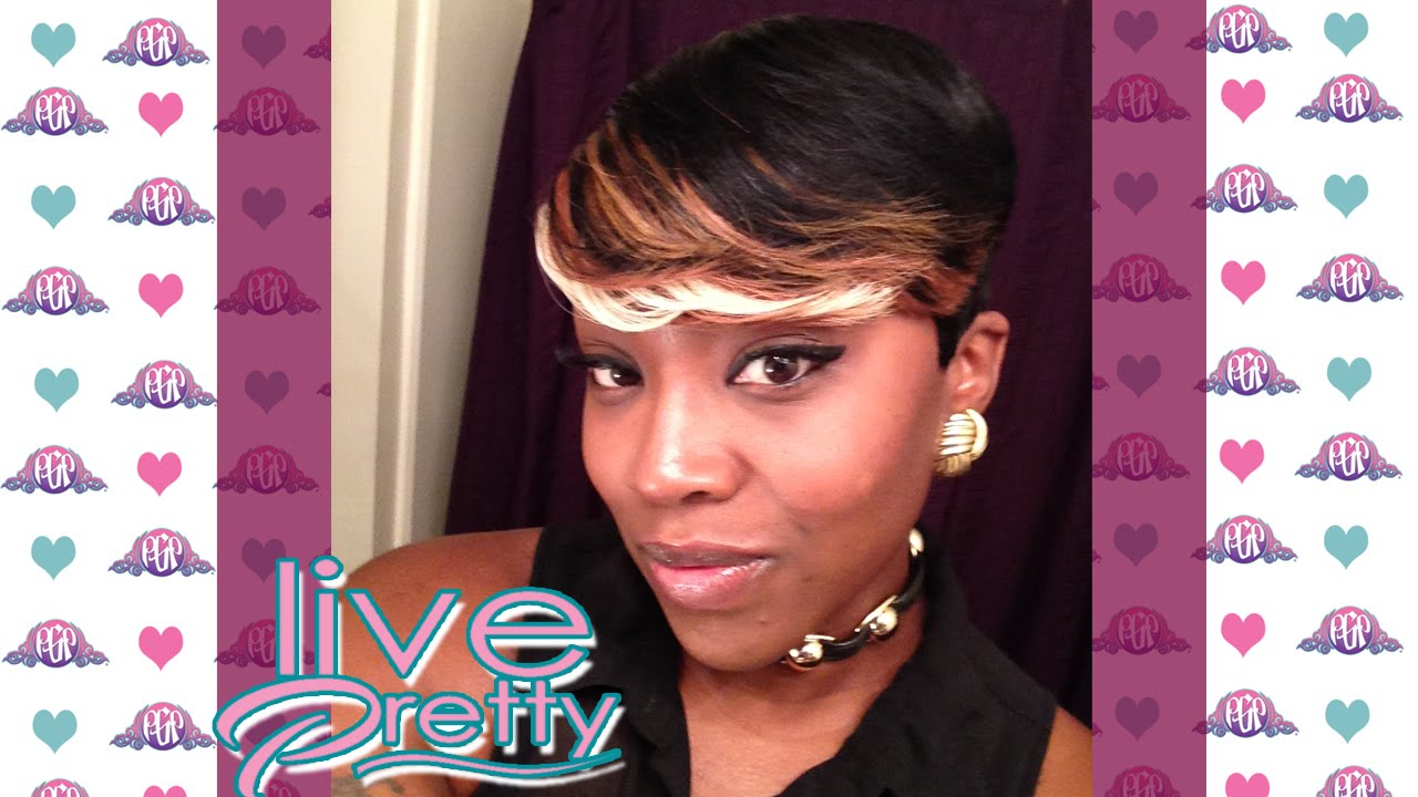 Pixie Cut Quick Weave Tara 246 Hair Youtube