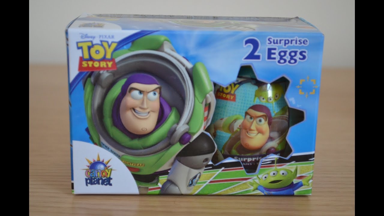 Kinder Egg Review Toy Story Surprise Egg Woody Buzzlight Year Opening