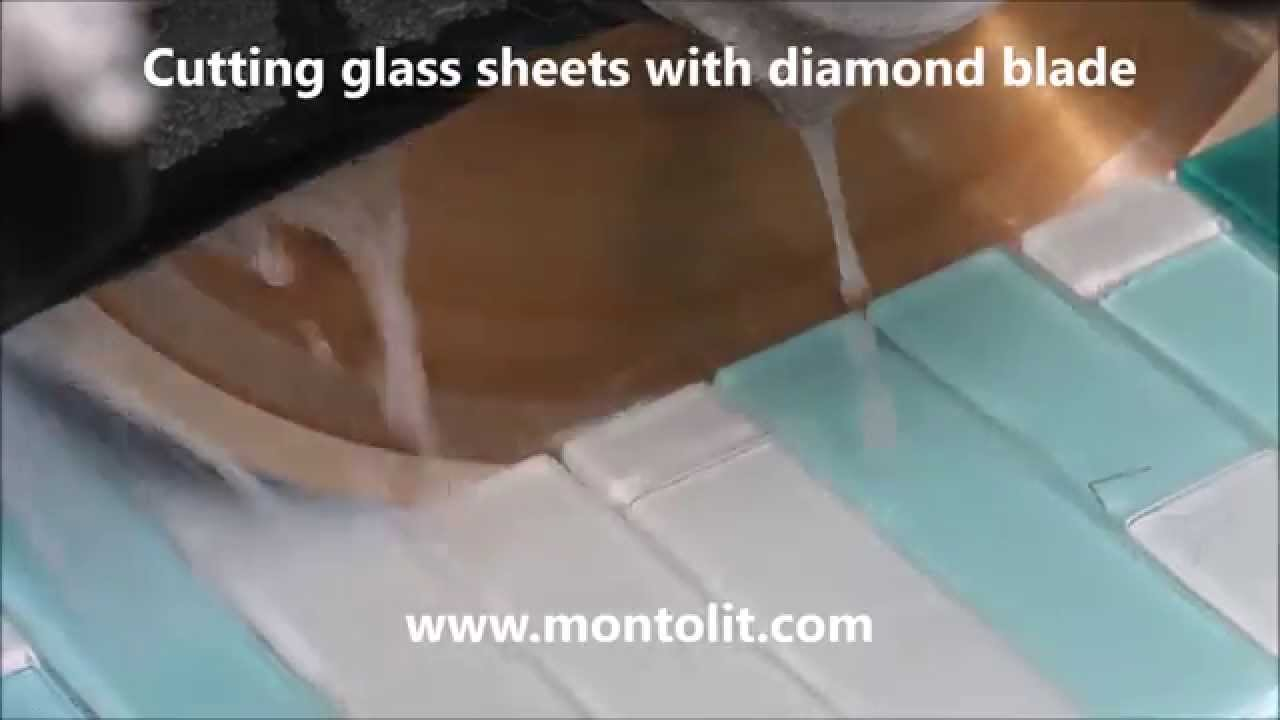 Cutting Glass Tiles Glass Sheets And Mosaic With Diamond Blade