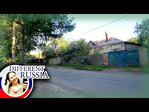 Old Russian Village of Duplex Houses. Bike Tour in Moscow Region, Russia