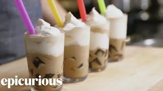 Make Starbucks-Style Frozen Coffee Jelly at Home | Epicurious