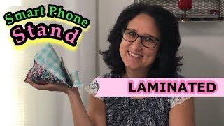 How To Sew A Smart Phone Stand ~ Laminated Reversible Phone Pillow ~ 10 Minute Sewing Project