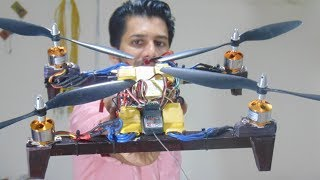 H-frame quadcopter with overlap propellers