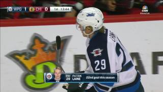 Laine fires home 22nd goal with perfect one timer