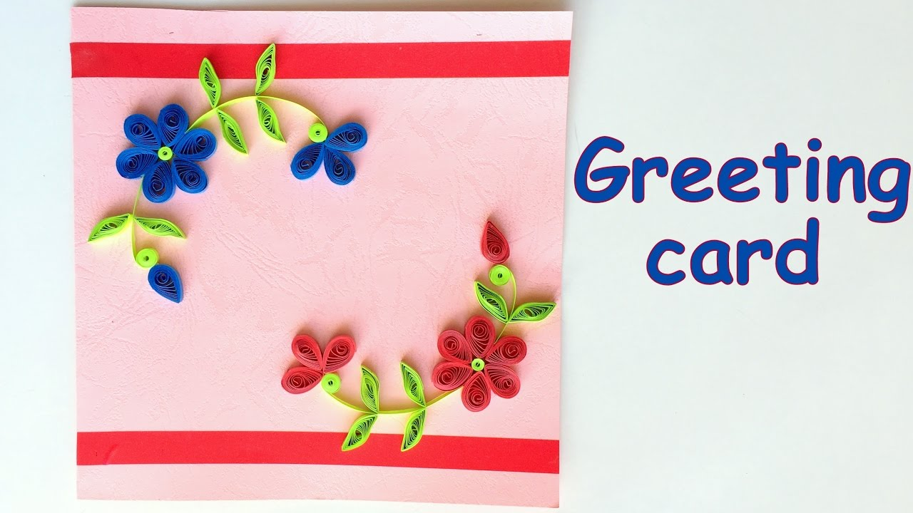 Diy how to make beautiful quilling greeting card valentine day diy how to make beautiful quilling greeting card valentine day greeting card ideas youtube m4hsunfo