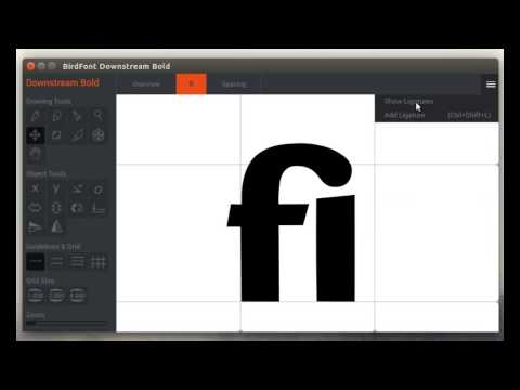 Creating Ligatures for a Font in BirdFont