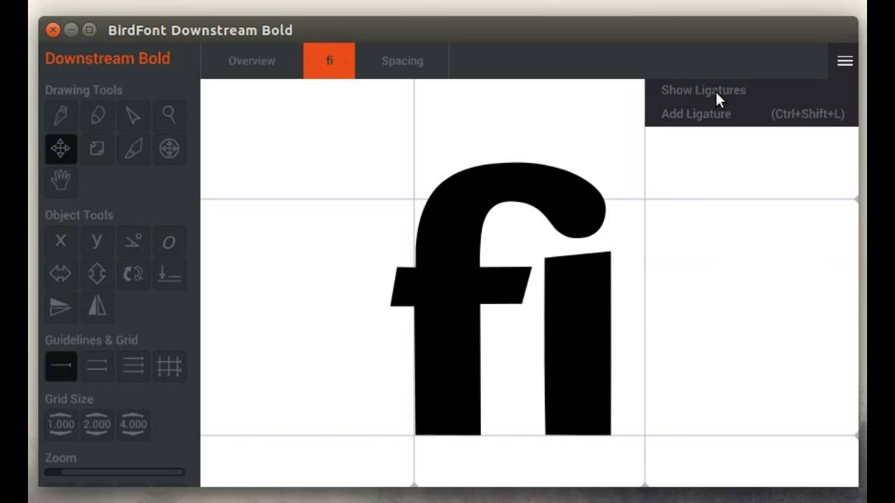 Birdfont – A free font editor for TTF, OTF, EOT and SVG fonts