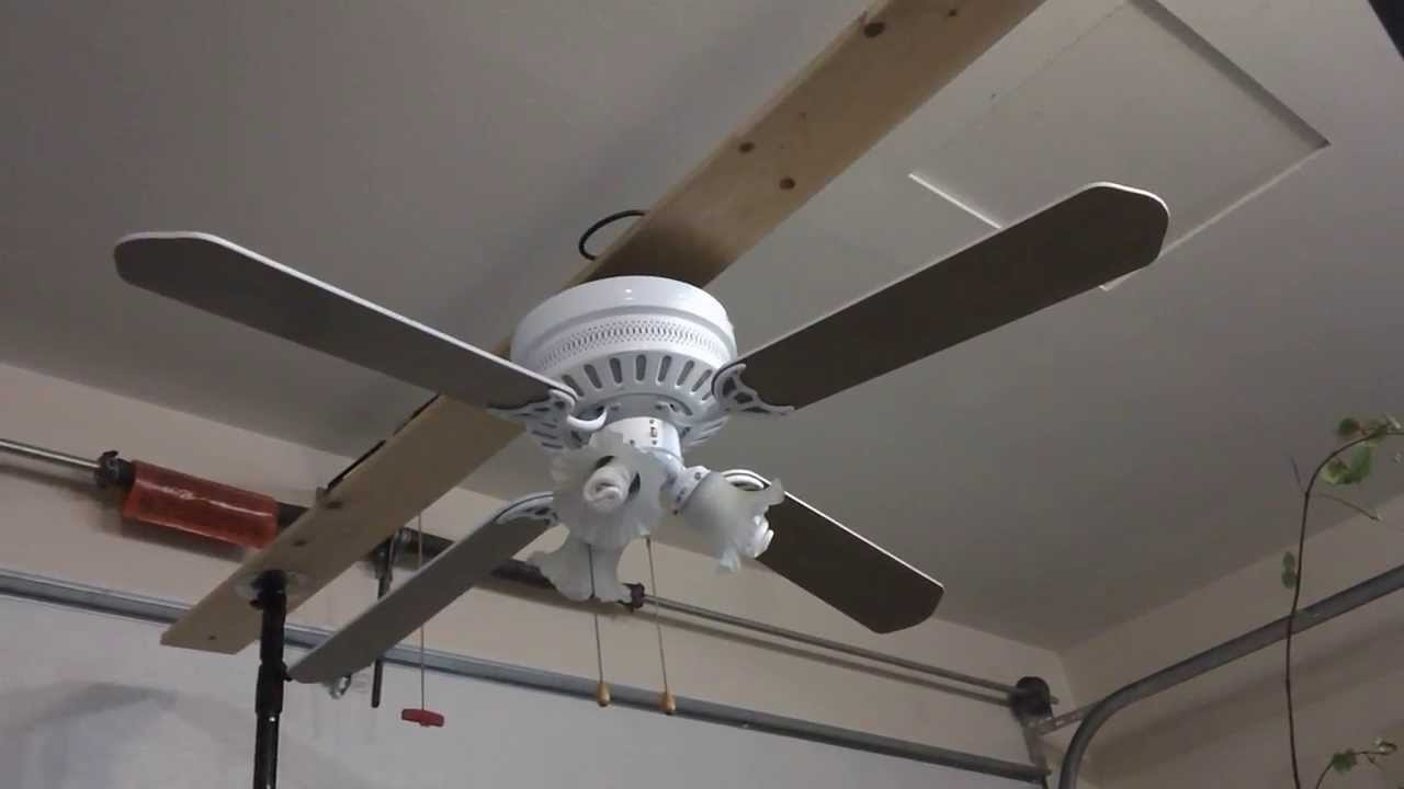 Hampton Bay Chatham Ceiling Fan - YouTube