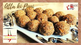 atta ki pinni/ punjabi pinni/ almond makhana pinni/ healthy snack