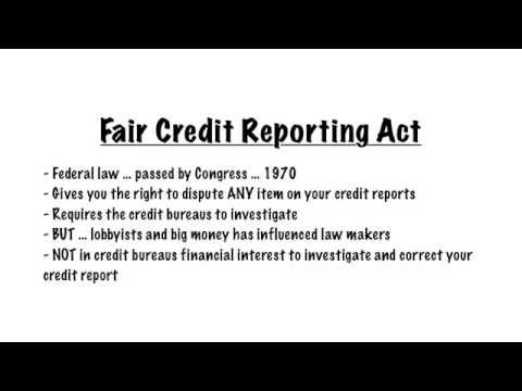 the fair credit reporting act is designed to meet