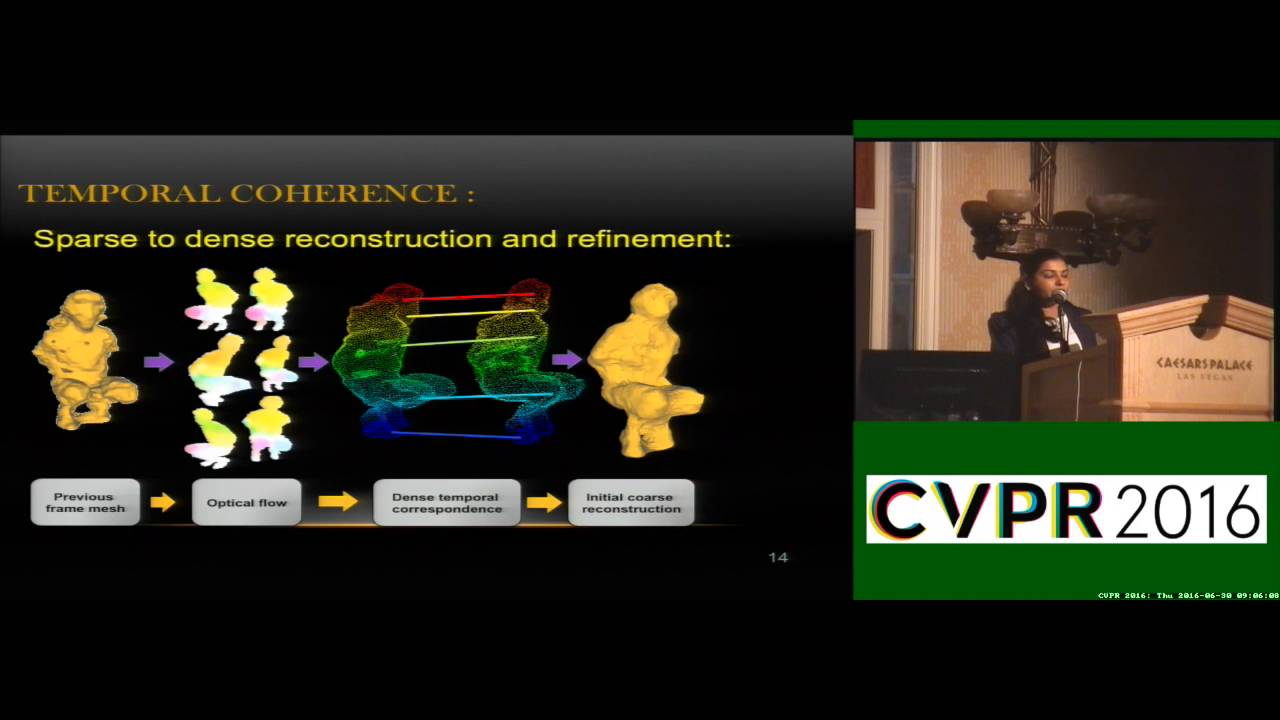 Temporally Coherent 4D Reconstruction of Complex Dynamic Scenes