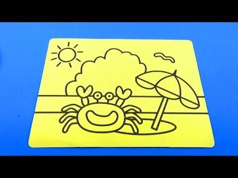 Song Children's!Tranh cát con Cua Dễ Thương!Color Sand Crab!For Kids