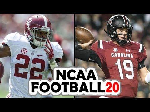 Alabama @ South Carolina - NCAA Football 20 Preseason Simulation (2019 Rosters for NCAA 14)