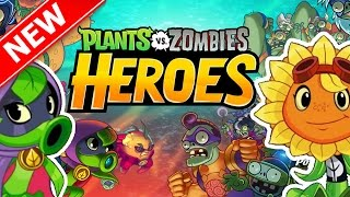 Plants vs. Zombie Heroes | CAN WE DEFEAT THE ZOMBIE BOSSES?? | Brand New PVZ Game IOS/ANDROID!