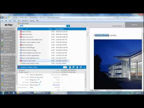 M-Files document management software for Administration introduction video