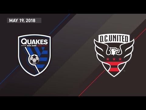 HIGHLIGHTS: San Jose Earthquakes vs. D.C. United   May 19, 2018
