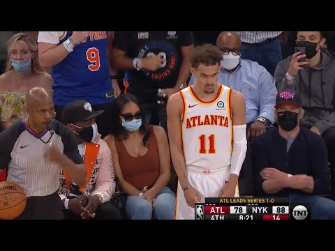 Knicks fan spit on Trae Young during a pandemic💀 Hawks vs Knicks Game 2