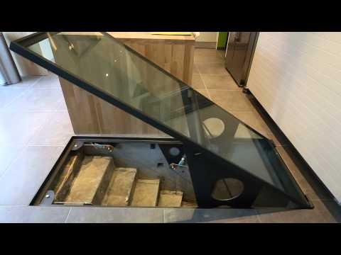 automatisme ouverture de trappe ou de cave au sol avec doovi. Black Bedroom Furniture Sets. Home Design Ideas