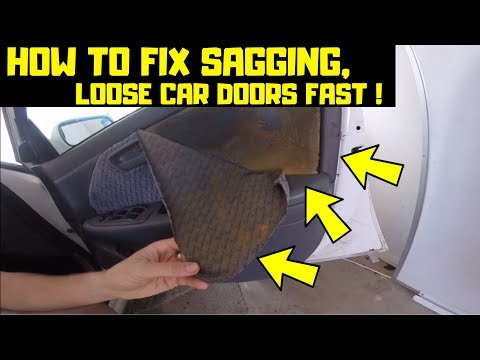 How To Fix Sagging, Loose, Old Car Door Fabric Fast And Cheap! | TOYOTA