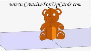 All comments on teddy bear pop up card 3d cad model youtube for Teddy bear pop up card template free
