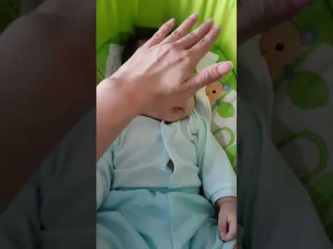 Baby Gernelle 4 months+ shakes her head to zzz!!