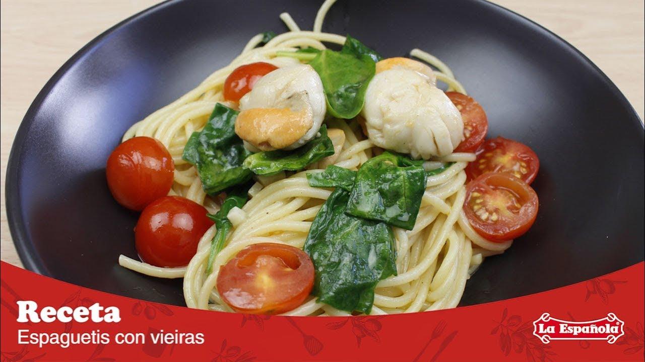 Espaguetis Con Vieiras Recetas La Española