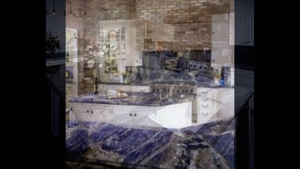 Blue granite countertops