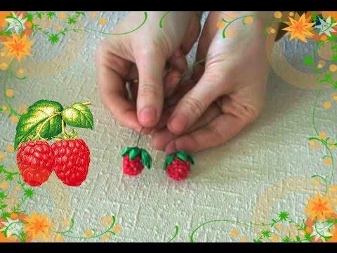 Ягода малинка своими руками из бусины и бисера/DIY/Tutorial