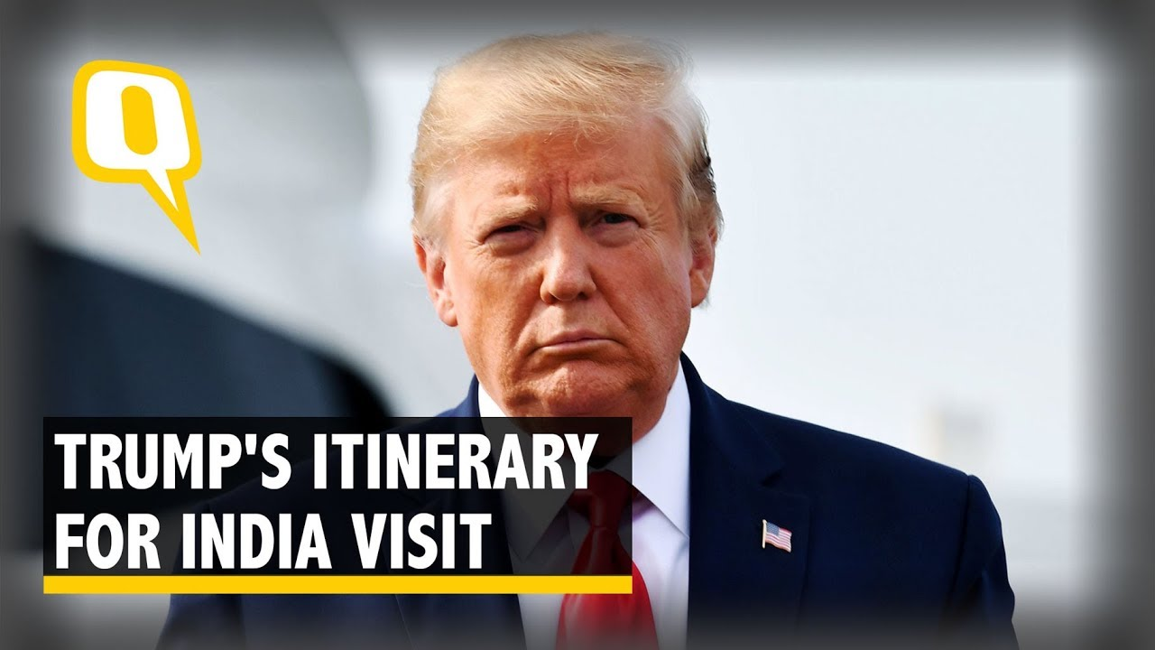 Donald Trump 2020 India Trip Schedule