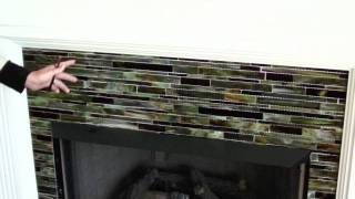 Pratt Home Highlights | Glass Fireplace Tiles