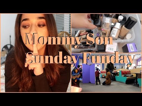 Himmat and Mommy's Funday Sunday || Mini Makeup collection video